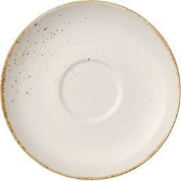 V & B Group Stone Ware White Mokkauntertasse 12