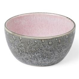 Bowl matt grey / shiny light pink 10 cm
