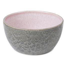 Bowl matt grey / shiny light pink 14 cm