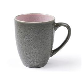 Becher mit Henkel matt black / shiny light pink
