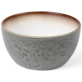Bowl matt grey / shiny cream 14 cm