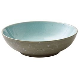 Salatbowl grey / light blue 24 cm
